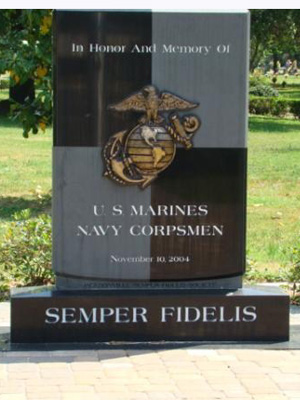 Marines and Navy Corpsman Memorial in Jacksonville, Florida