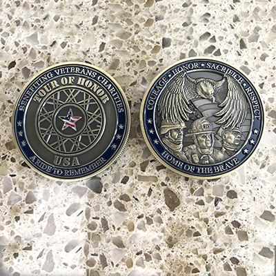 Tour of Honor challenge coins